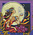 Click for more details of Silver Moon Tea (cross-stitch pattern) by Mirabilia Designs