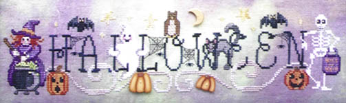 Click for more details of Simply Halloween (cross-stitch pattern) by Waxing Moon Designs