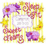 Click for more details of Sleep Tight (cross-stitch kit) by Cinnamon Cat