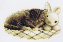 Click for more details of Sleeping Kitten (cross-stitch kit) by Vervaco