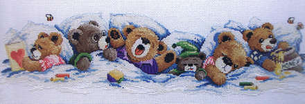 Click for more details of Sleepy Bears (cross stitch) by Janlynn