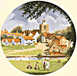 Click for more details of Sleepy Village (cross-stitch pattern) by John Clayton