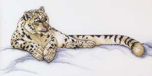 Click for more details of Snow Leopard (cross stitch) by StitchWorld