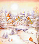 Click for more details of Snow Village (cross stitch) by Kustom Krafts