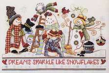 Click for more details of Snowflake Dreams (cross-stitch pattern) by Stoney Creek