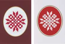 Click for more details of Snowflake Hardanger Christmas Cards (hardanger) by Permin of Copenhagen