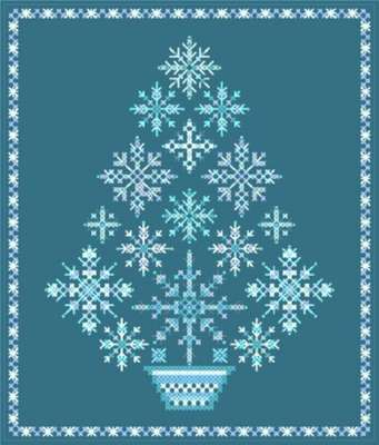 Click for more details of Snowflake Tree (cross-stitch pattern) by Designs by Cathy