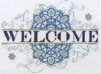 Click for more details of Snowflake Welcome (cross stitch) by MarNic Designs
