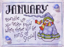 Click for more details of Snowmen of the Month (cross-stitch) by Stoney Creek