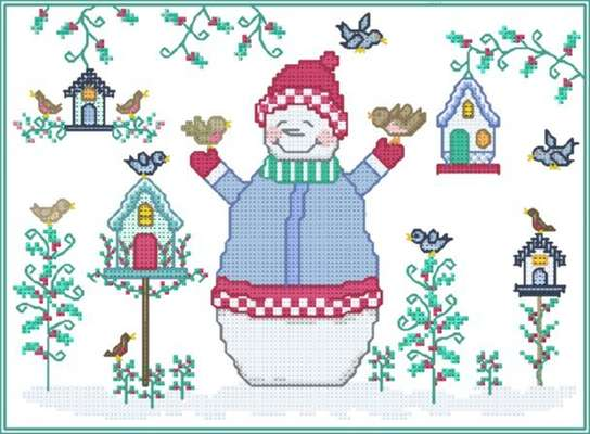 Click for more details of Snowy's Friends (cross stitch) by Designs by Cathy