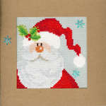 Click for more details of Snowy Santa Christmas Card (cross stitch) by Bothy Threads