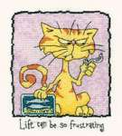 Click for more details of so frustrating.... (cross-stitch kit) by Peter Underhill