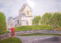 Click for more details of South Wraxall Parish Church (oil on board) by Terry Chivers