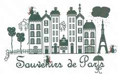 Click for more details of Souvenirs de Paris (cross stitch) by Lilli Violette