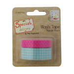 Click for more details of Special Delivery Washi Tape - Blue Gingham/Pink Polka Dot (adhesives) by Helz Cuppleditch