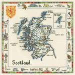 Click for more details of Special Interest Map of Scotland (cross-stitch) by Sue Ryder