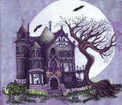 Click for more details of Spooky House (cross-stitch pattern) by X's & Oh's