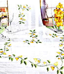 Click for more details of Sprays of Yellow Bell Flowers Table Toppers (embroidery kit) by Rico Design