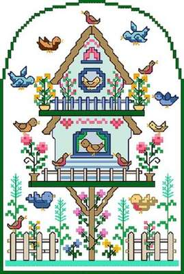 Click for more details of Spring Birdsong (cross-stitch pattern) by Designs by Cathy