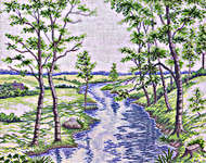 Click for more details of Spring Countryside (cross stitch) by Eva Rosenstand