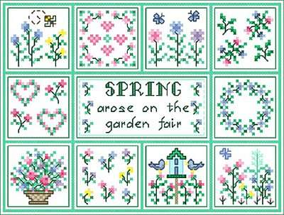 Click for more details of Spring (cross-stitch pattern) by Designs by Cathy