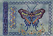 Click for more details of Spring (cross-stitch pattern) by Turquoise Graphics & Designs