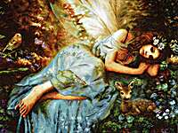 Click for more details of Spring Fairy (cross stitch) by Letistitch