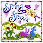 Click for more details of Spring Fever (cross-stitch kit) by Cinnamon Cat