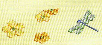 Click for more details of Spring Flair - Butterflies on Multicoloured Table Runner (cross-stitch kit) by Rico Design