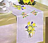 Click for more details of Spring Flower Table Covers (embroidery) by Deco-Line