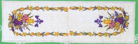 Spring Flower Table Runner - cross-stitch kit by Eva Rosenstand