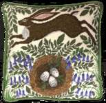 Click for more details of Spring Hare Cushion Front (tapestry) by Bothy Threads