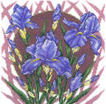 Click for more details of Spring Iris (cross-stitch pattern) by Imaginating