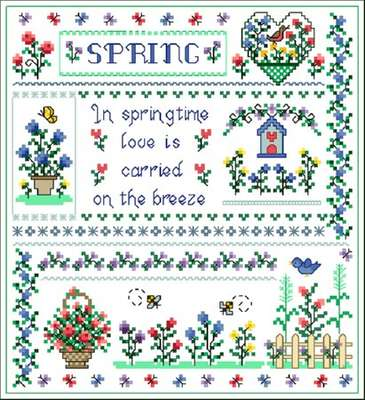 Click for more details of Spring Joy (cross-stitch pattern) by Designs by Cathy