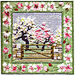 Click for more details of Spring Orchard (tapestry) by Rose Swalwell
