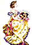 Click for more details of Spring Queen (cross-stitch pattern) by Mirabilia Designs