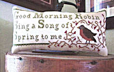 Click for more details of Spring Robin (cross stitch) by Widgets and Wool Primitives
