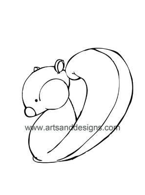 Click for more details of Squirrel Card Making Digital Stamp in Black (digital downloads) by Julie Lynes