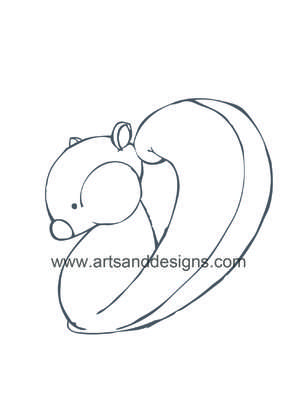 Click for more details of Squirrel Card Making Digital Stamp in Grey (digital downloads) by Julie Lynes