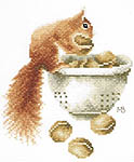 Squirrel - cross-stitch kit by Marjolein Bastin