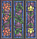 Click for more details of Stained Glass Bookmarks (cross-stitch) by Imaginating
