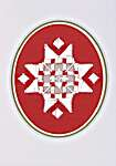 Click for more details of Star Hardanger Christmas Cards (hardanger) by Permin of Copenhagen