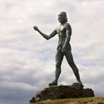 Click for more details of Statue / John the Baptist no2 (photograph) by Margaret Elliot