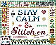 Click for more details of Stay Calm & Stitch On (Imaginating) (cross stitch) by Imaginating