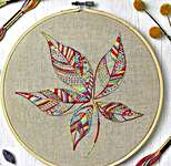 Click for more details of Stitch Sampler 2: Leaf (embroidery) by Anchor