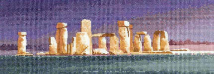 Click for more details of Stonehenge (cross-stitch kit) by John Clayton
