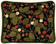 Click for more details of Strawberries Cushion Front (tapestry) by Eva Rosenstand