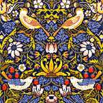 Click for more details of Strawberry Thief by William Morris (cross-stitch kit) by Bothy Threads
