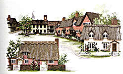 Click for more details of Suffolk Village (cross-stitch) by Rose Swalwell