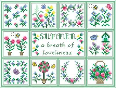 Click for more details of Summer (cross stitch) by Designs by Cathy